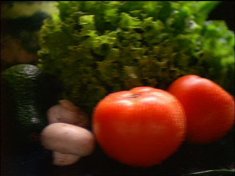 dolly shot assorted vegetables + milk - crucifers stock videos & royalty-free footage