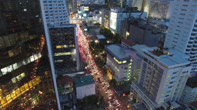 4K : Dolly shot Bangkok at Night