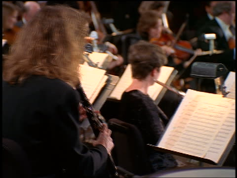 dolly shot behind musicians playing in orchestra - classical stock videos & royalty-free footage