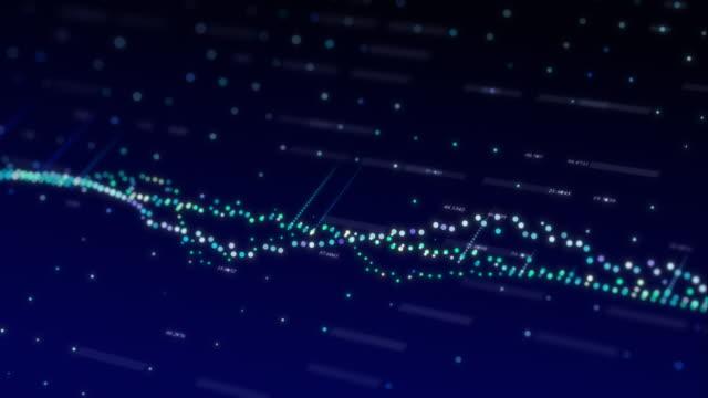 vidéos et rushes de dolly a tiré graphique bleu agitant fond numérique de nombre - amélioration