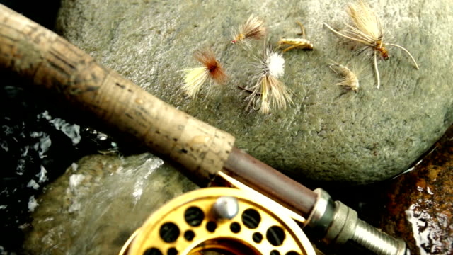 dolly shot fly fishing lure. - fly fishing stock videos and b-roll footage