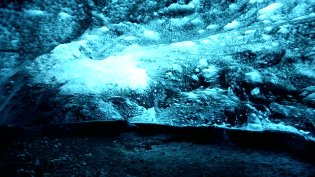 HD dolly shot: Ice Cave at vatnajokull Glacier jokulsaron Iceland
