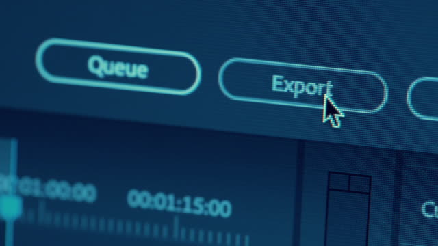 dolly shot macro export button - editor stock videos & royalty-free footage