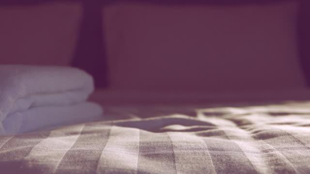 4K Dolly shot: movement of bedroom