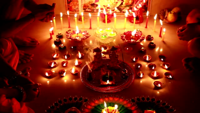 dolly shot, navratri or diwali festival, india - god stock videos & royalty-free footage