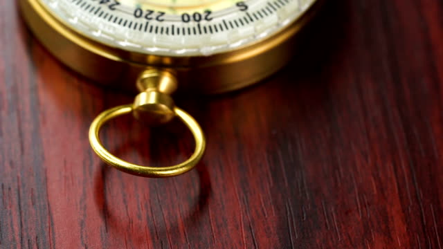 stockvideo's en b-roll-footage met dolly shot van het gouden kompas - messing about
