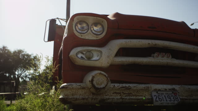 dolly shot of old truck. - bumper stock videos & royalty-free footage