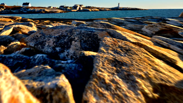 dolly shot of peggys cove - nova scotia stock videos & royalty-free footage