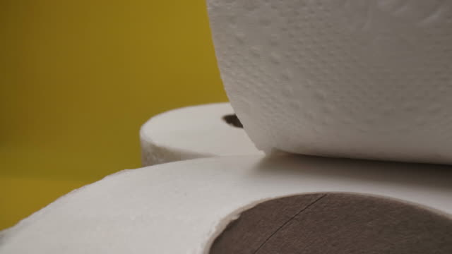dolly shot of toilet paper close-up. - dolly shot stock videos & royalty-free footage