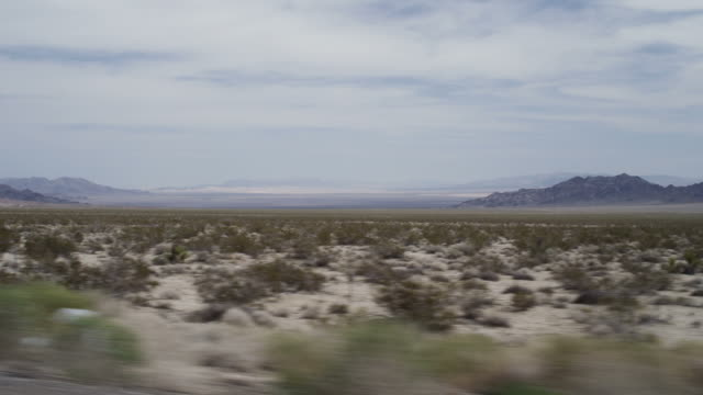 Dolly shot of Western American landscape