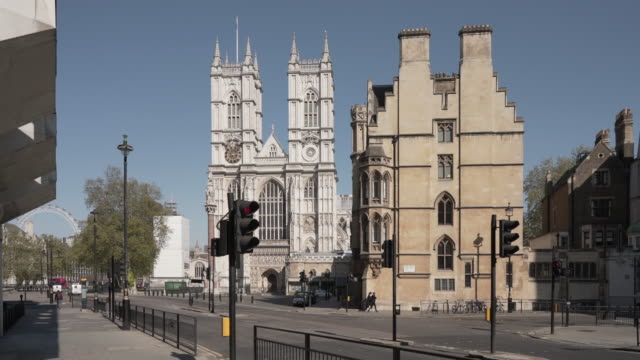 a dolly shot of westminster abbey - westminster abbey stock videos & royalty-free footage