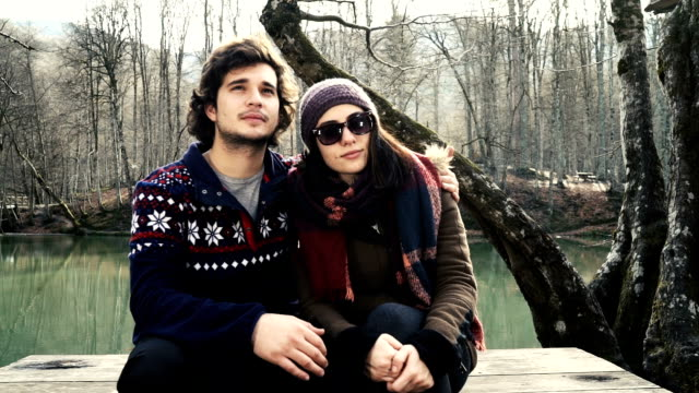 HD: Dolly Shot of Young Couple in the Forest