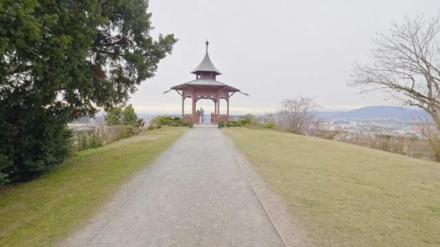 dolly shot: schlossberg, graz, austria, on a spring day - dolly shot stock videos and b-roll footage