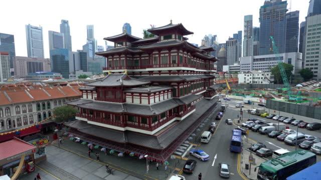 ドリー ショット: シンガポール仏歯遺物寺 - dolly shot点の映像素材/bロール