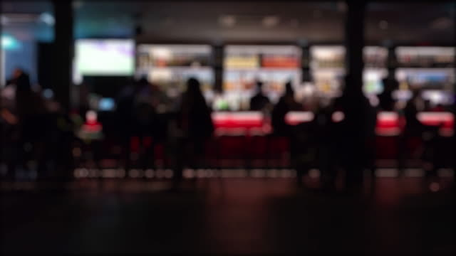 dolly shot time lapse defocus night life - bar background stock videos & royalty-free footage