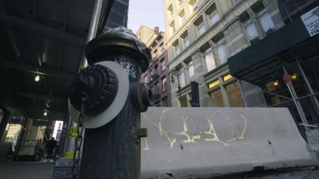 soho - dolly shot - fire hydrant stock videos & royalty-free footage