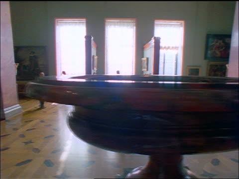 dolly shot (walking pov) people walking thru hermitage art museum / st. petersburg, russia - st. petersburg russia stock videos & royalty-free footage