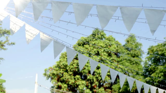 dolly wedding bunting - garden party stock videos & royalty-free footage