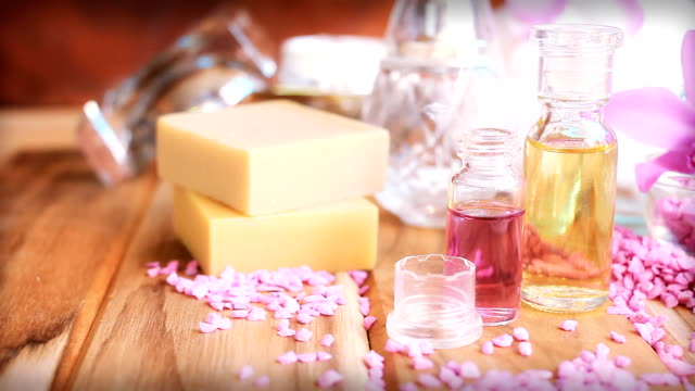 hd dolly:aromatherapy massage oil. - essential oil stock videos and b-roll footage