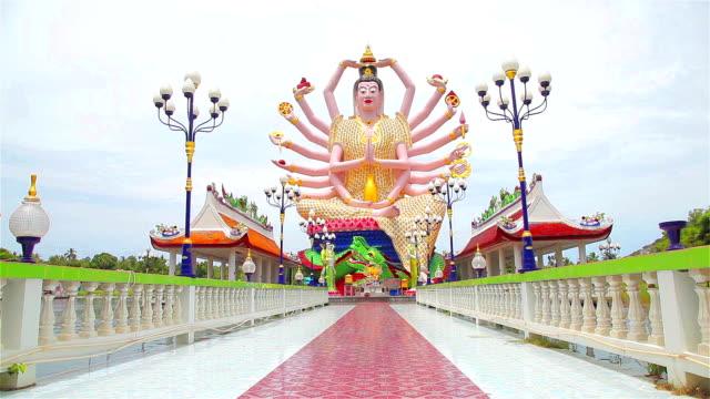 hd dolly:buddha guanyin - guanyin bodhisattva stock videos & royalty-free footage