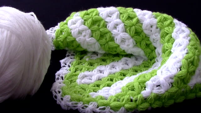 dolly:handmade green fescue - knitting stock videos & royalty-free footage
