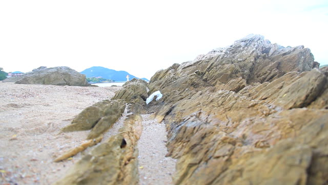 HD DOLLY:Large rocks on the beach.
