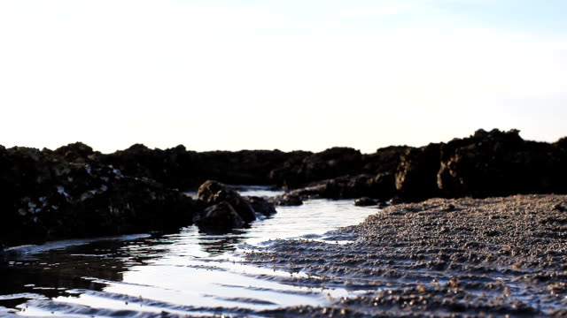 hd dolly:view of beach peaceful of rocky shoreline in thailand. - bugtiger stock videos and b-roll footage