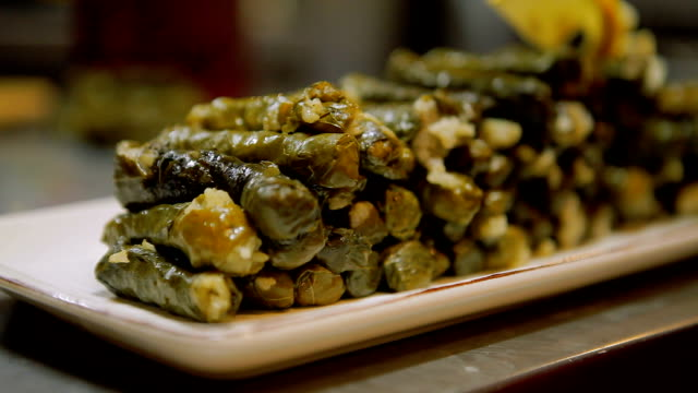 dolmades - stuffed stock videos & royalty-free footage