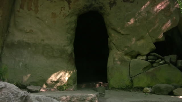 dolmen entrance hd1080, ntsc, pal - cave stock videos & royalty-free footage