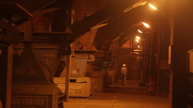 Dolomite pallets which are mixed with limestone and are collectively known as flux which are fed to the blast furnace at the Jindal Steel Power Ltd's...