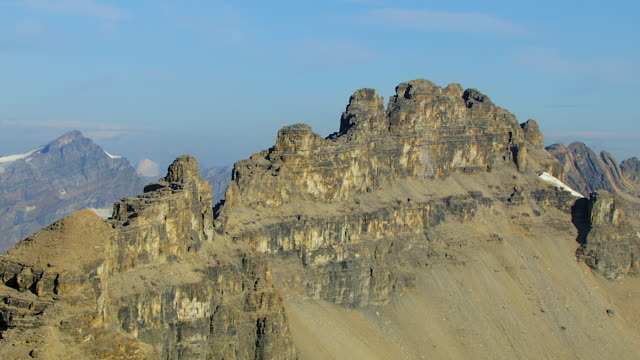 dolomite peak in canadian rockies - banff stock videos & royalty-free footage