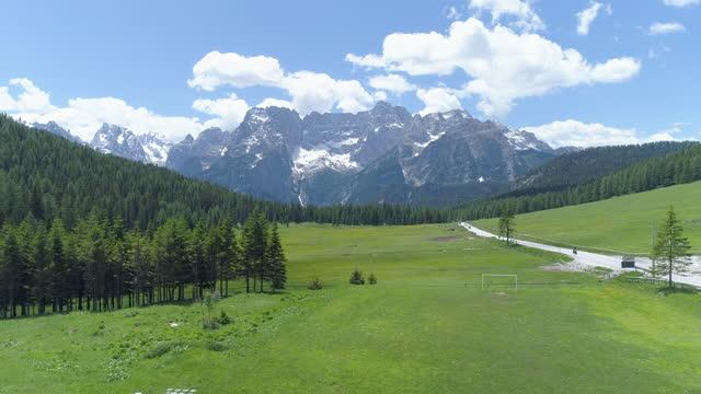 dolomites / the italian alps, italy - grass area stock videos & royalty-free footage