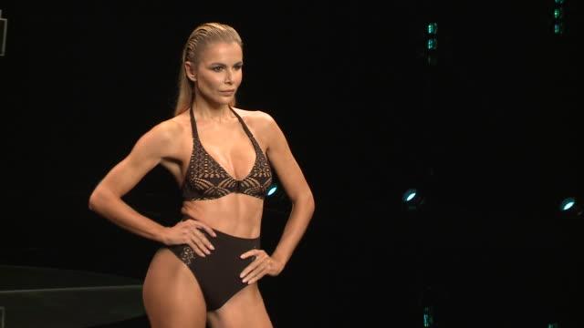 runway - day 3 - 'moda calida' in gran canaria - swim week - アゲダ・ロペス点の映像素材/bロール