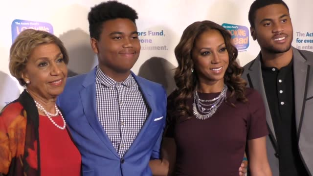 Dolores Robinson Robinson James Peete Holly Robinson Peete Rodney Peete Jr at The Actors Fund's 2017 Looking Ahead Awards Honoring The Youth Cast Of...