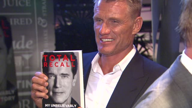 dolph lundgren at arnold schwarzenegger celebrates the launch of his autobiography, total recall with a party at s mixology101 on 10/5/12 in los... - autobiography stock videos & royalty-free footage