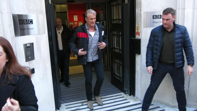 dolph lundgren at bbc radio 2 at celebrity sightings in london on november 30, 2018 in london, england. - bbc radio stock videos & royalty-free footage