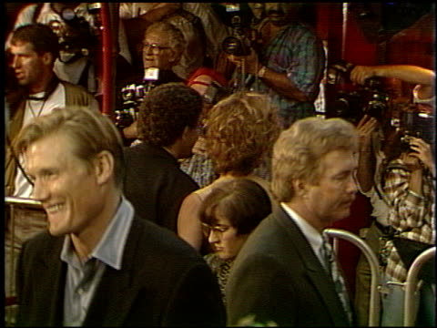 dolph lundgren at the 'cliffhanger' premiere at grauman's chinese theatre in hollywood, california on may 1, 1993. - premiere stock videos & royalty-free footage