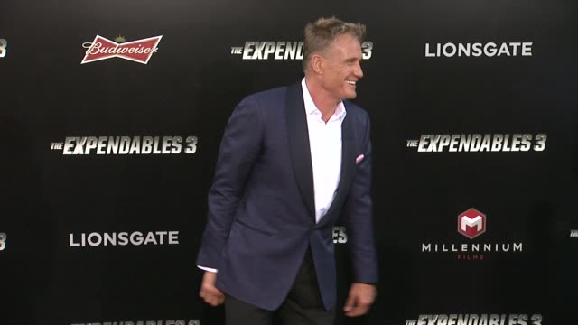 Dolph Lundgren at the The Expendables 3 Los Angeles Premiere at TCL Chinese Theatre on August 11 2014 in Hollywood California