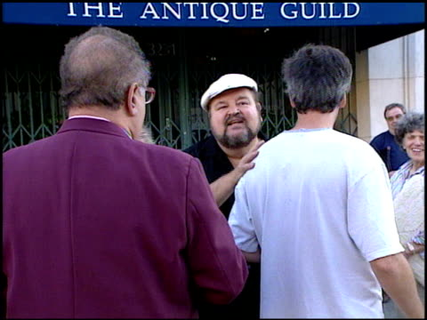 dom deluise at the performance of woody allen playing clarinet at jazz bakery in los angeles, california on august 7, 2001. - woody allen stock videos & royalty-free footage