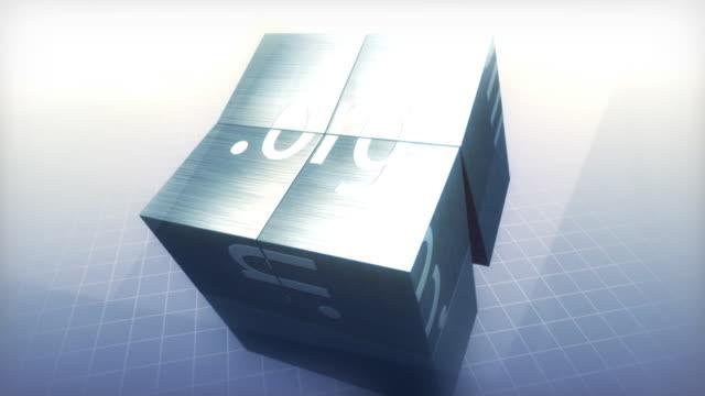 vídeos de stock e filmes b-roll de cubo nomes de domínio - cubo