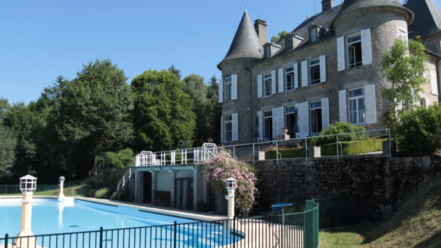 Domaine de Mialaret in Neuvic at the massif Central France with a huge swimming pool A castle from the 19th century in the middle of beautiful nature...