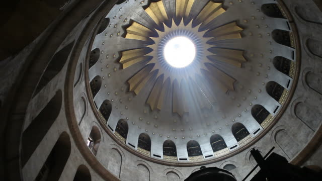 dome at church of the holy sepulcher in jerusalem israel - judaism stock videos & royalty-free footage