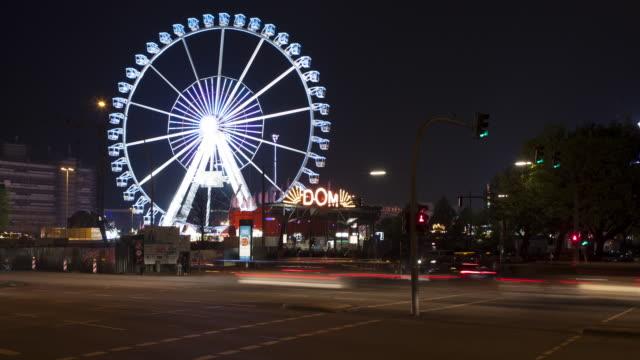 dome fair in spring hamburg - hamburg stock-videos und b-roll-filmmaterial