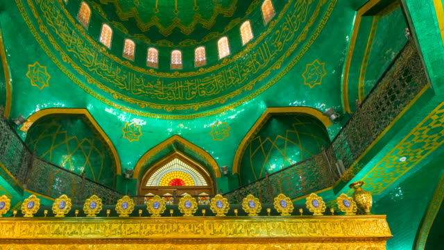 dome in bibi-heybat mosque, baku city, azerbaijan, middle east - baku video stock e b–roll