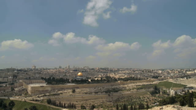 stockvideo's en b-roll-footage met t/l ws dome of rock at temple mount / jerusalem, israel - rotskoepel