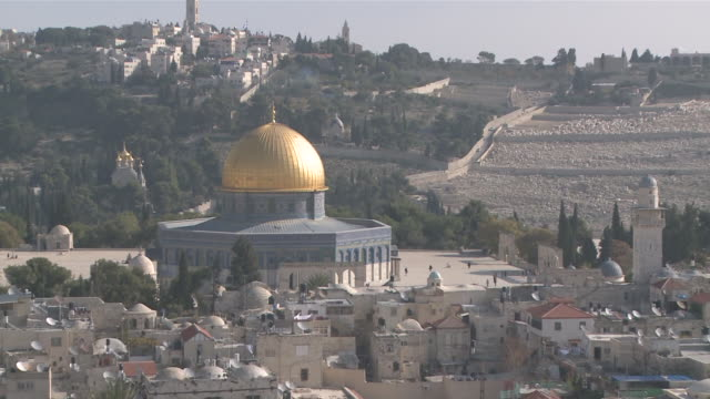 ms zo dome of rock view in old town / jerusalem, central province, israel - sri lankan culture stock videos & royalty-free footage