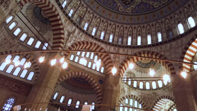 dome of selimiye mosque, edirne, turkey - spirituality stock videos & royalty-free footage