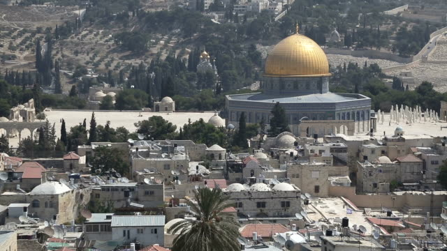 dome of the rock and surrounding area - dome stock videos & royalty-free footage
