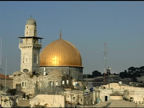 dome of the rock and western wall - palestinian territories stock videos and b-roll footage