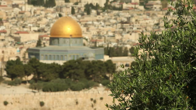hd felsendom in jerusalem - wallfahrt stock-videos und b-roll-filmmaterial